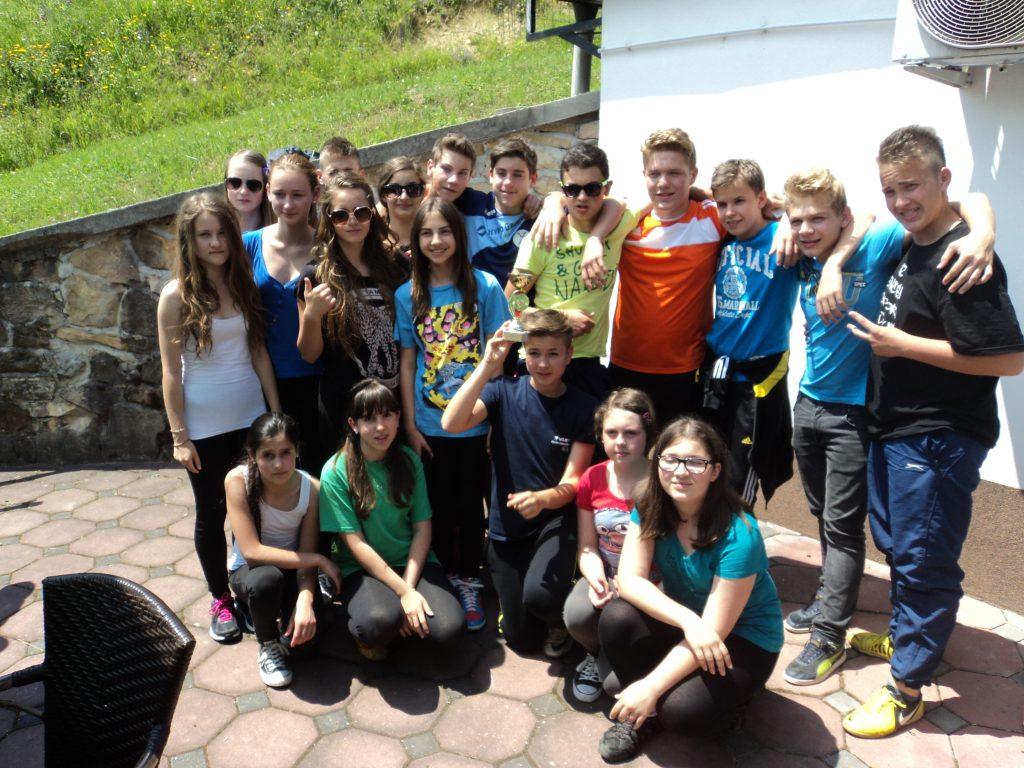 Mladinci in mladinke po tekmovanju
