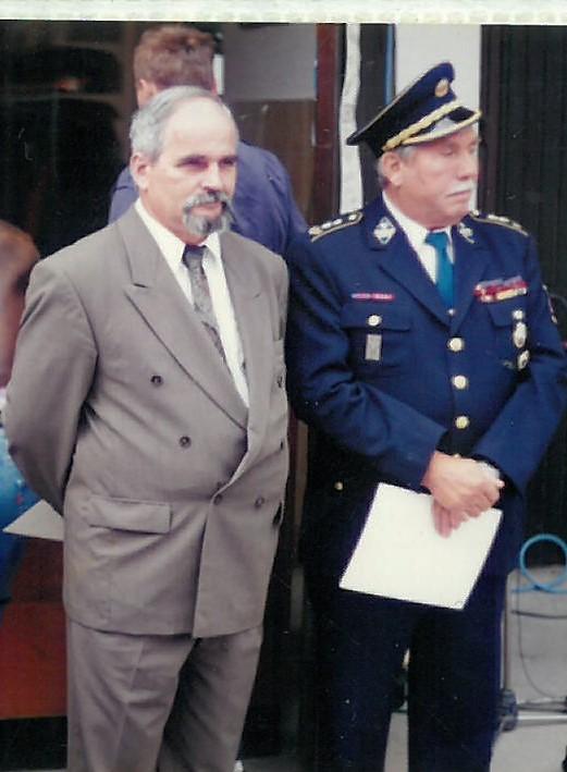 Slavnostna govornika Jurij Malovrh, župan Občine Šentjur, in Martin Cmok
