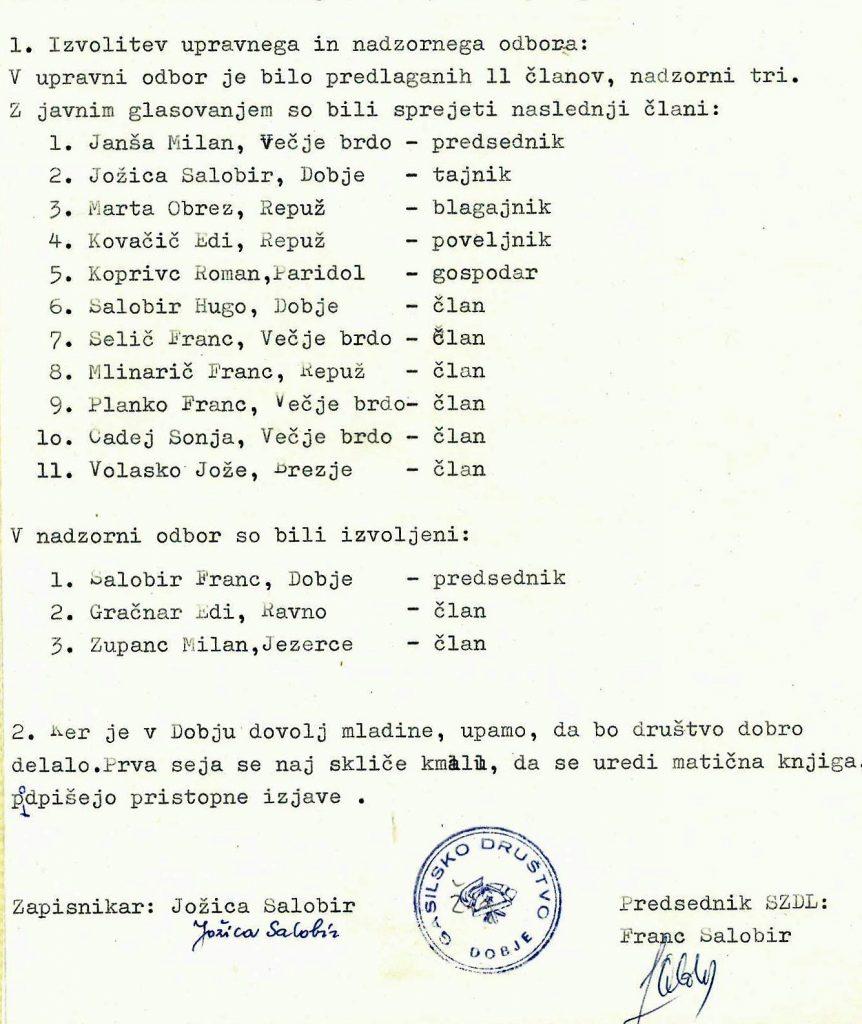 Izvolitev upravnega in nadzornega odbora