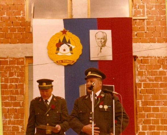 Slavnostni govornik Martin Avžner, predsednik Območne gasilske zveze Šentjur